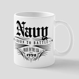 U.S. Navy Born to Battle 11 oz Ceramic Mug