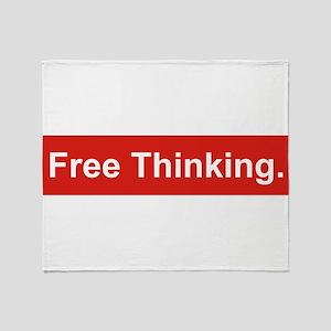 Free thinking Throw Blanket
