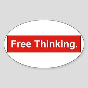 Free thinking Sticker