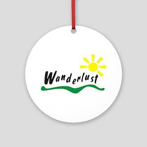 Wanderlust Round Ornament