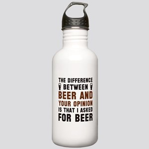 Beer And Your Opinion Stainless Water Bottle 1.0L