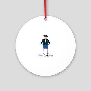 True Scotsman Round Ornament