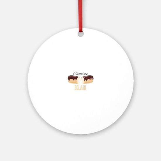 Chocolate Eclair Round Ornament