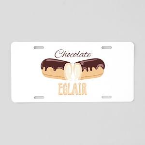 Chocolate Eclair Aluminum License Plate