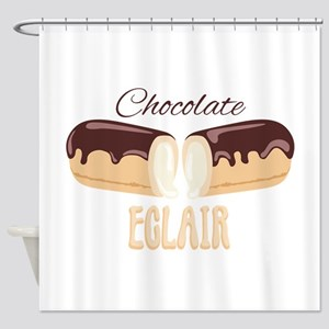 Chocolate Eclair Shower Curtain