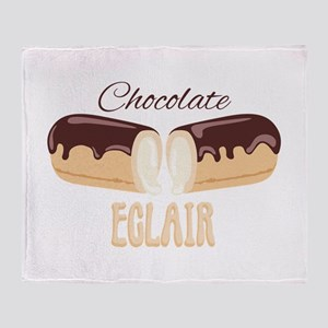 Chocolate Eclair Throw Blanket