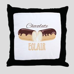 Chocolate Eclair Throw Pillow