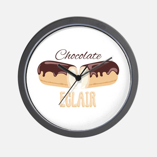 Chocolate Eclair Wall Clock