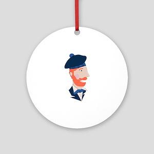 Scottish Man Round Ornament