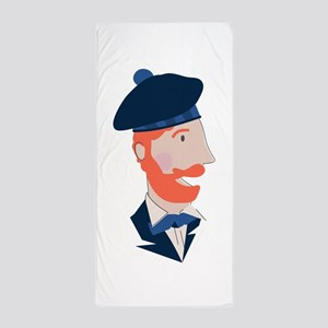Scottish Man Beach Towel