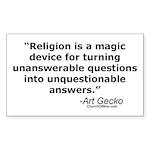 Religion - Unquestionable Ans Sticker (Rectangular