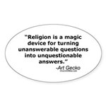 Religion - Unquestionable Ans Oval Sticker