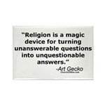 Religion - Unquestionable Ans Rectangle Magnet