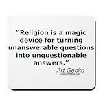 Religion - Unquestionable Ans Mousepad