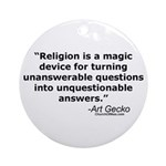 Religion - Unquestionable Ans Ornament (Round)