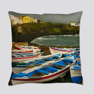 Portuguese harbour Everyday Pillow