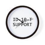 ID-10-T support Wall Clock