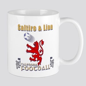 saltire and lion rampant football Mugs