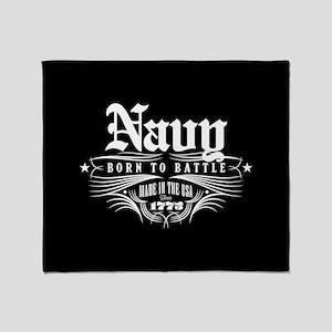 U.S. Navy Born to Battle Throw Blanket
