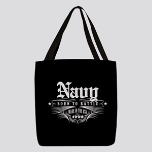 U.S. Navy Born to Battle Polyester Tote Bag