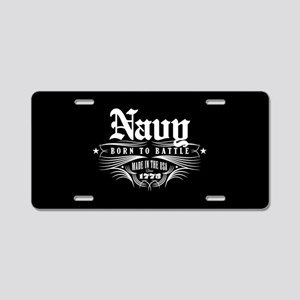 U.S. Navy Born to Battle Aluminum License Plate