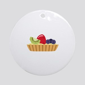 Fruit Tart Round Ornament