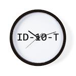 ID-10-T Wall Clock