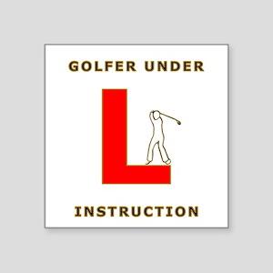 Golfers fun l plate design Sticker
