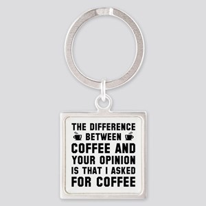 Coffee And Your Opinion Square Keychain