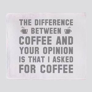Coffee And Your Opinion Stadium Blanket