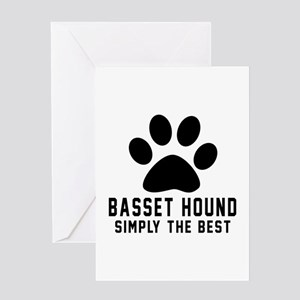 Basset Hound Simply The Best Greeting Card