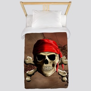 The Jolly Roger Pirate Map Twin Duvet