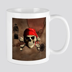 The Jolly Roger Pirate Map Mugs