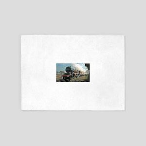 Steam Train 5'x7'Area Rug