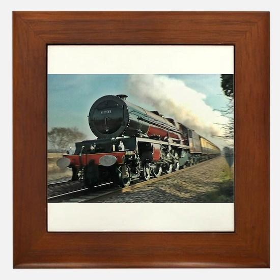 Steam Train Framed Tile