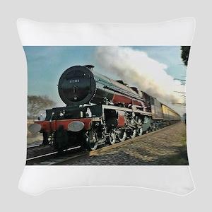 Steam Train Woven Throw Pillow