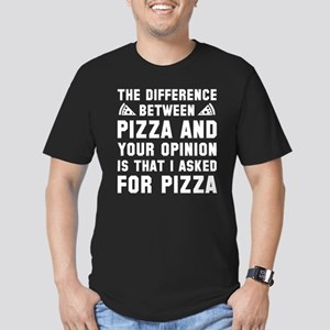 Pizza And Your Opinion Men's Fitted T-Shirt (dark)