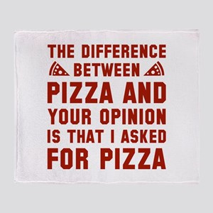 Pizza And Your Opinion Stadium Blanket