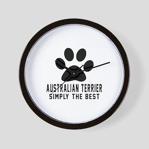 Australian Terrier Simply The Best Wall Clock