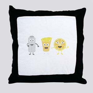 Salt, lemon and tequila Throw Pillow