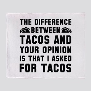 Tacos And Your Opinion Stadium Blanket