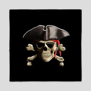 The Jolly Roger Pirate Skull Queen Duvet