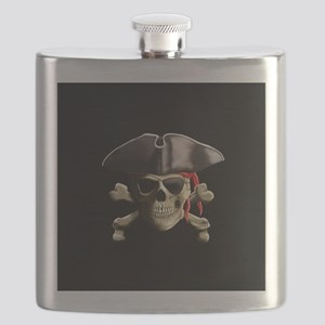 The Jolly Roger Pirate Skull Flask
