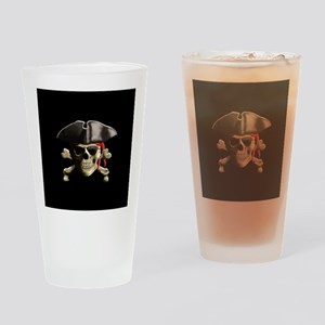 The Jolly Roger Pirate Skull Drinking Glass