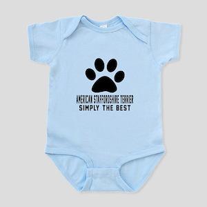 American Staffordshire Terrier Sim Infant Bodysuit