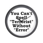 Spell Terrorist Without Error Wall Clock