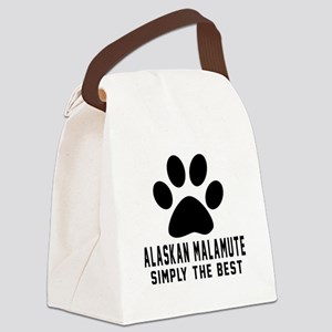 Alaskan Malamute Simply The Best Canvas Lunch Bag