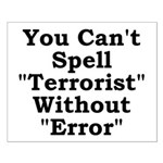 Spell Terrorist Without Error Small Poster