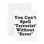 Spell Terrorist Without Error Greeting Card