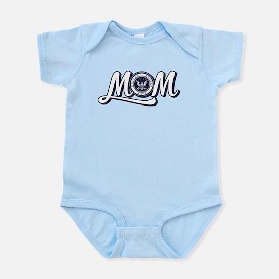 U.S. Navy Mom Baby Light Bodysuit